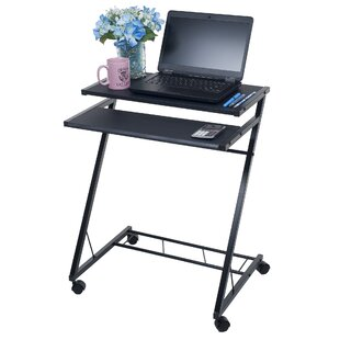 Mobile Compact Laptop Cart by Lavish Home