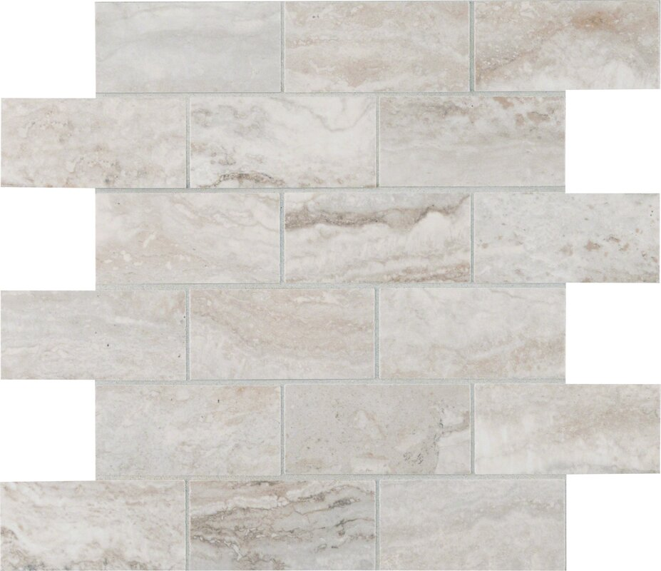 Bernini Pietra Camo Polished 2 X 4 Porcelain Subway Tile