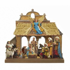 wooden nativity set - Wooden Nativity Set