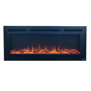 Orren Ellis Slate Steel Wall Mounted Electric Fireplace