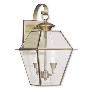 Best Price Olesen 2-Light Outdoor Wall Lantern By Three Posts