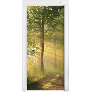 Forest Path In Winter Door Sticker By East Urban Home