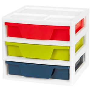 Portable 3 Compartment Cubby with Bins