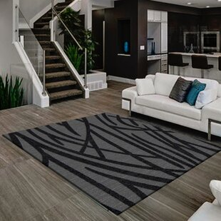 Comparison Consuelo Black/Gray Area Rug By Orren Ellis