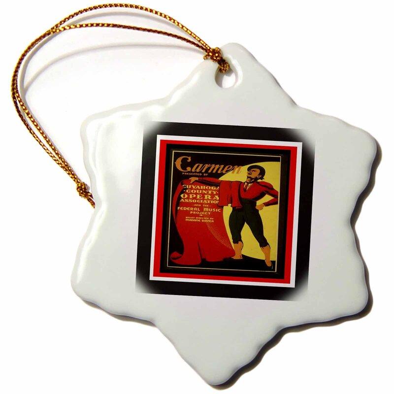 The Holiday Aisle Wpa Carmen Opera Art Deco Poster Snowflake Holiday Shaped Ornament Wayfair