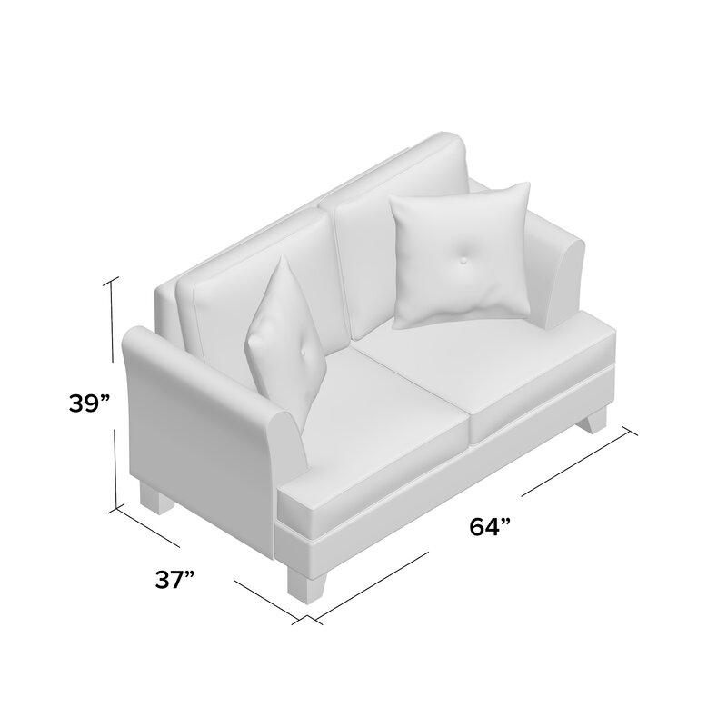 west mid stella textured o dot black sofa century products loveseat white elm