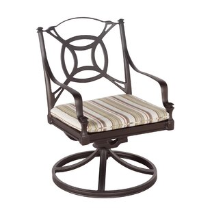Isla Swivel Rocker Patio Dining Chair with Cushions