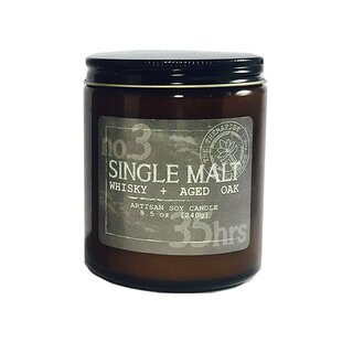 Single Malt Whisky and Aged Oak Scent Jar Candle