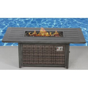 Living Source International Aluminum Propane/Natural Gas Fire Pit Table