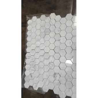 Elitetile Tribeca 1 X 1 Porcelain Honeycomb Mosaic Wall Floor Tile Reviews Wayfair