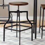 Killough Adjustable Height Swivel Bar Stool by Williston Forge