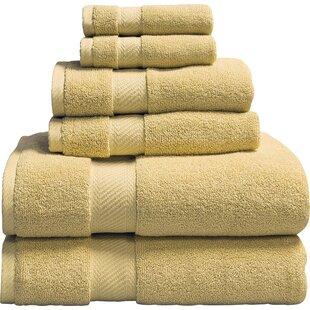 Low Twist Weave 6 Piece 100% Cotton Towel Set