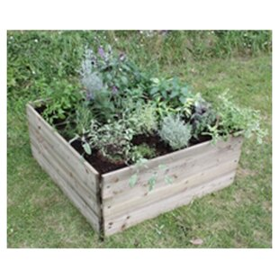Cheserfo 90cm X 90cm Wooden Raised Flower Bed By Brambly Cottage