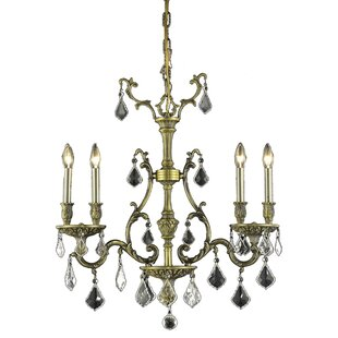 Astoria Grand Almont 4-Light Crystal Chandelier