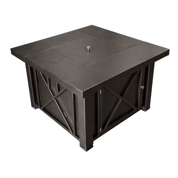 AZ Patio Heaters Lyons Steel Propane Fire Pit Table Reviews Wayfair - Black propane fire pit table