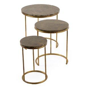 Clovis Nesting Tables (Set of 3) by Zenti..