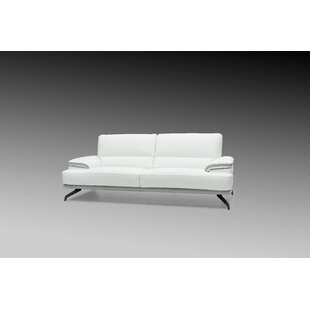 Shop Chesterle Leather Loveseat by Orren Ellis