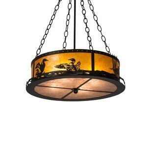 Loon 4-Light Drum Chandelier by Meyda Tiffany