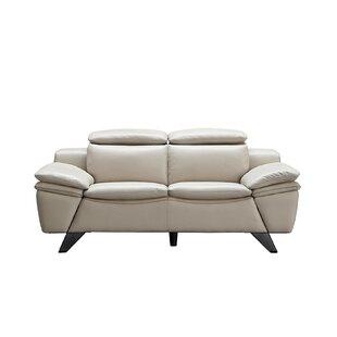 Orren Ellis Nevin 2 Piece Leather Living Room Set