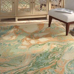 Hedberg Abstract Green/Gold Indoor Area Rug