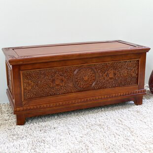 Palmieri Hand Carved Wood Bench/Trunk by World Menagerie
