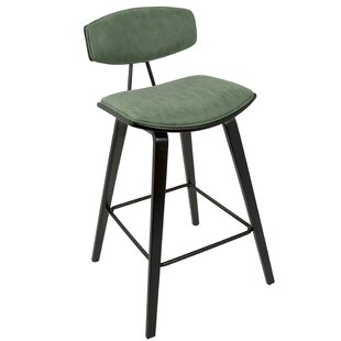Lewter Mid-Century 27 Bar Stool (Set of 2) Mercury Row