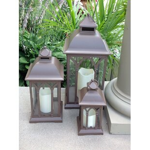 3 Piece Metal Lantern Set