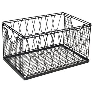 Criss Cross Collapsible Stacking Metal/Wire Basket