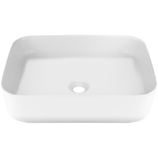 Ticor Sinks Nautilus Series Vitreous China Rectangular Vessel Bathroom Sink