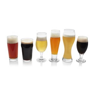 Craft Brews 6 Piece Assorted Glassware Set