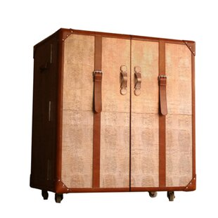 Serge De Troyer Collection Leather Trunk Bar Cart