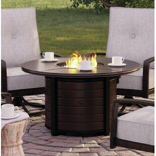 Ivy Bronx Luedtke Aluminum Propane Fire Pit Table