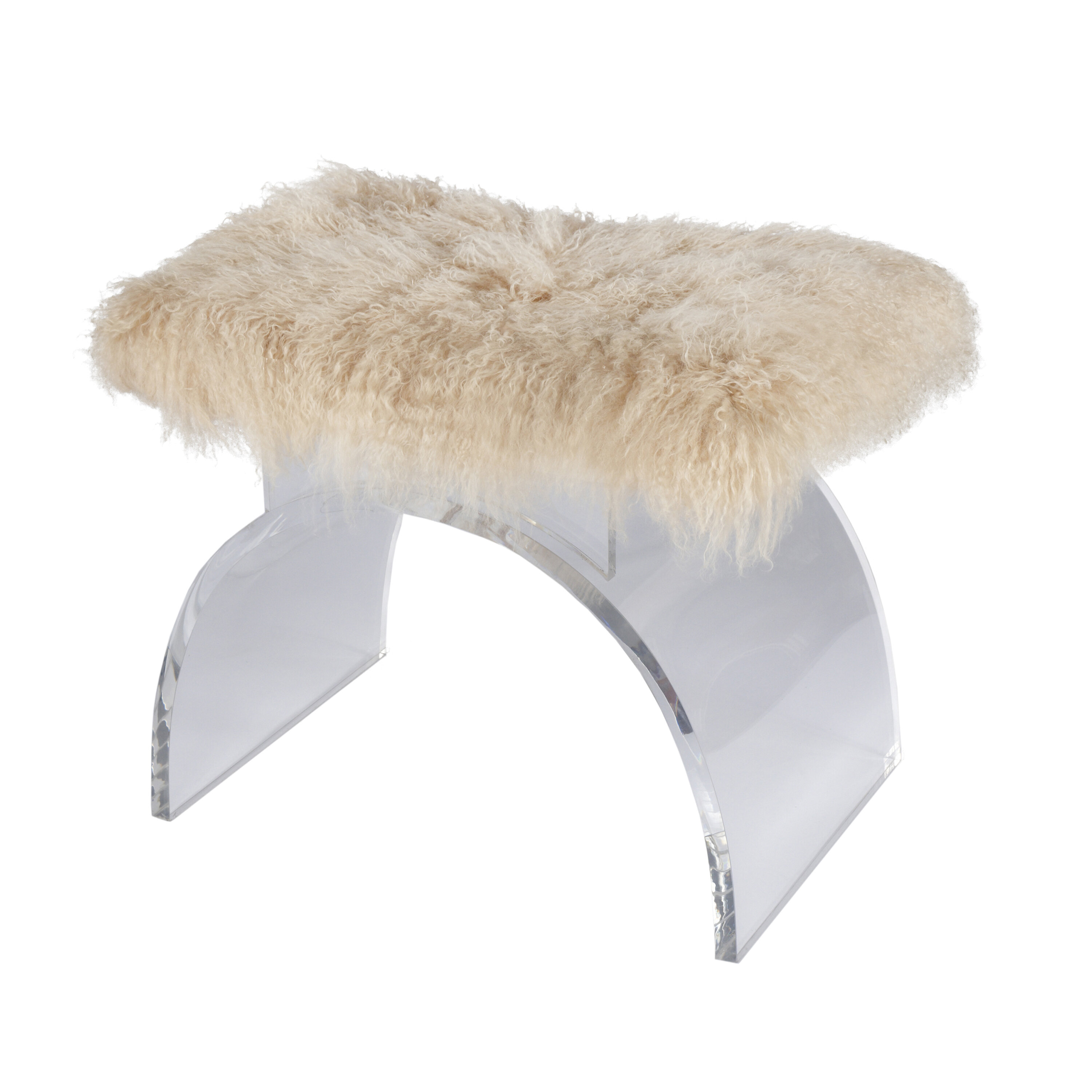 Worldsaway Lucite Arched Vanity Stool