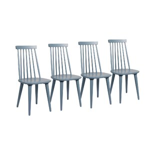 Romine Solid Wood Dining Chair (Set Of 4) By Mercury Row