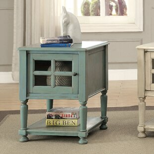 Online Reviews Letellier End Table with Storage by August Grove