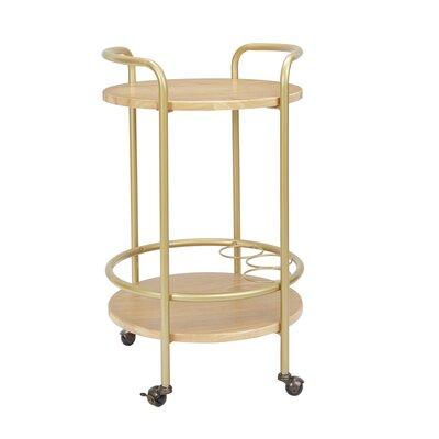 Brayden Studio Rimer Round Bar Cart