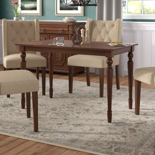 Gavril Solid Wood Dining Table by Darby Home Co Herry Up