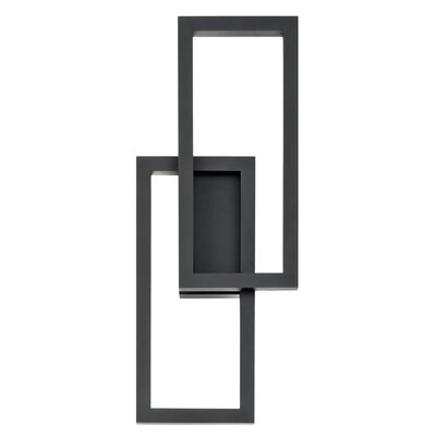 Brayden Studio Gulley LED Outdoor Sconce Finish: Texture Black