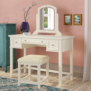 Beachcrest Home Manette Vanity Set with Mirror