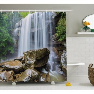 Shopping for Landscape Tropical Waterfalls Shower Curtain ByEast Urban Home