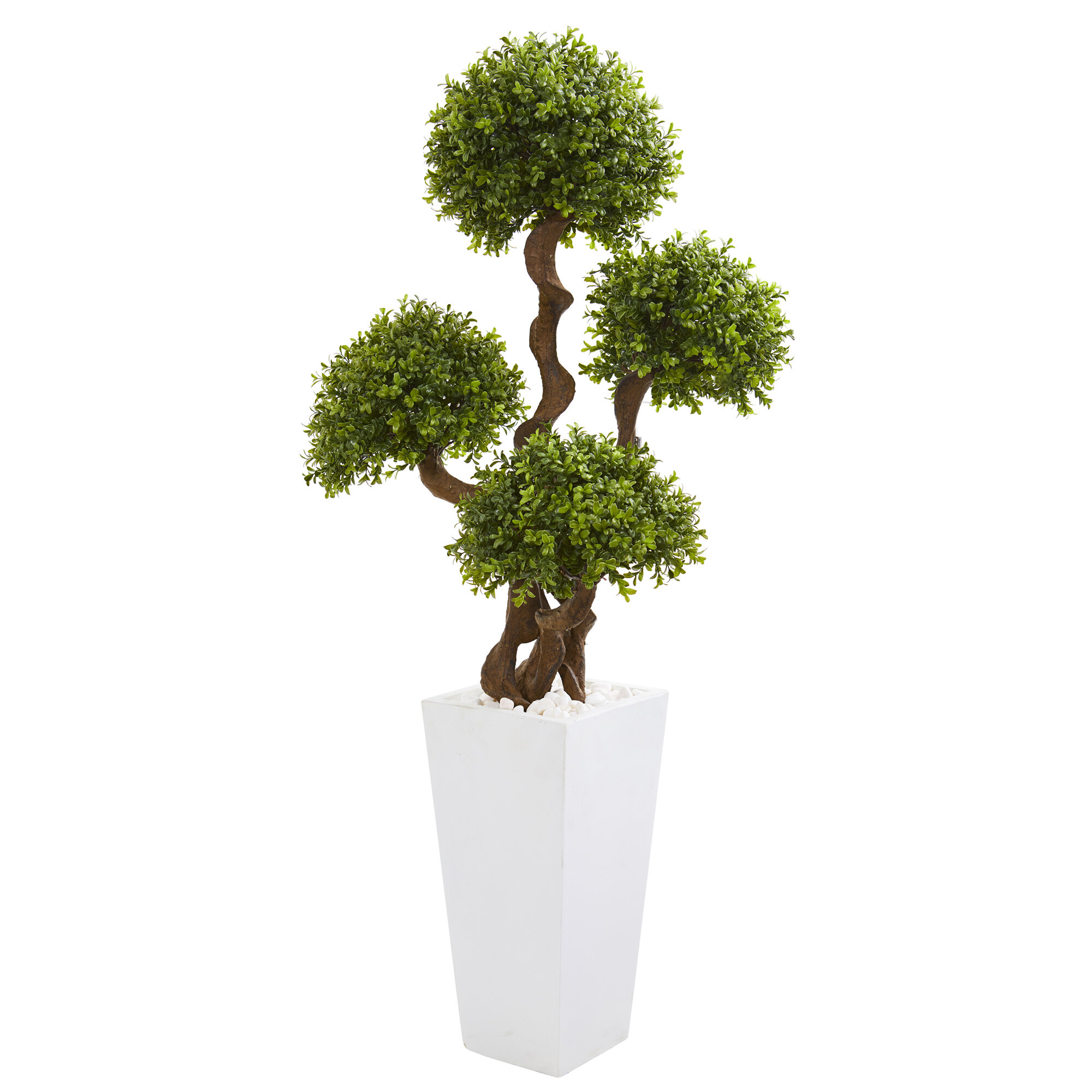 Auear 2 Pack Artificial Boxwood Topiary Plant Balls Decorative For Table Decoration Garden Wedding Decor Artificial Plants Flowers Artificial Shrubs Topiaries