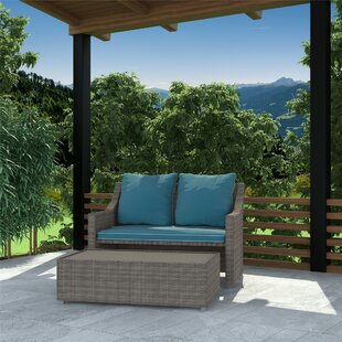 Coyne Patio 2 Piece Sofa Seating Group with Cushions