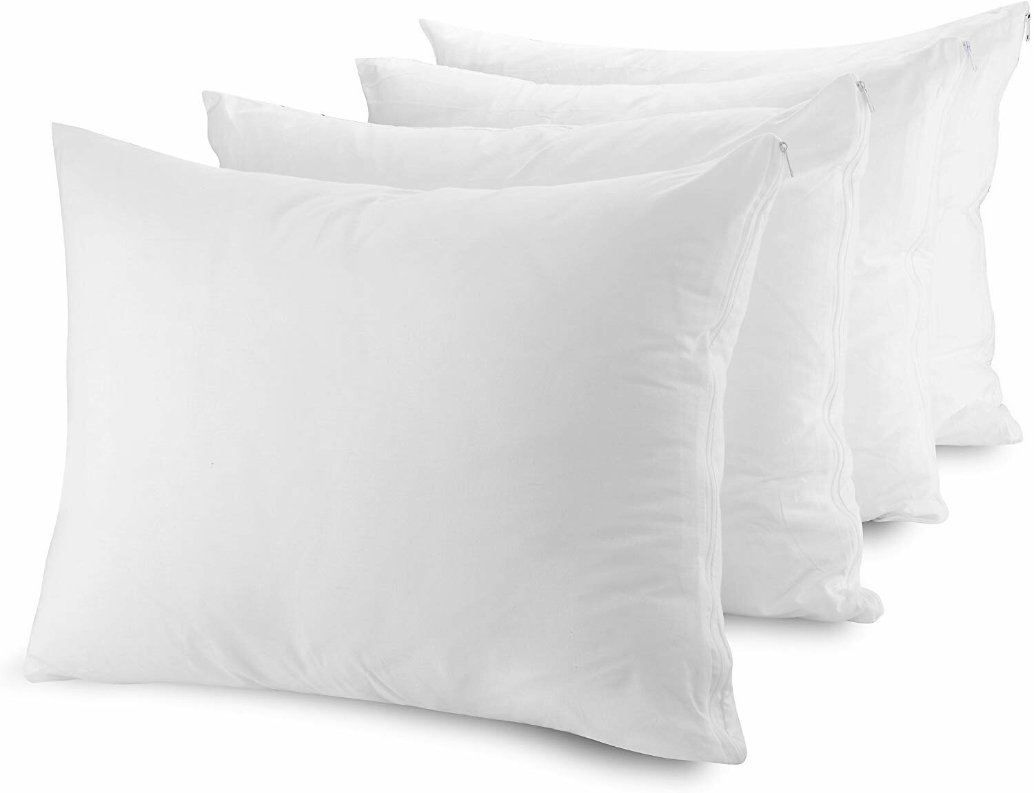 EZ Dreams Queen Size Zippered Pillow Protector Quick Dry Stay Cool Microfiber