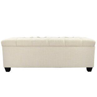 Alcott Hill Heaney Diamond Tufted Upholstered Storage Bench
