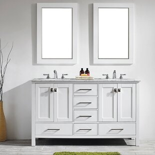 Newtown 60 Double Vanity Set with Mirror