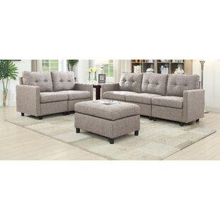 Weybridge 3 Piece Living Room Set by Ebern Designs