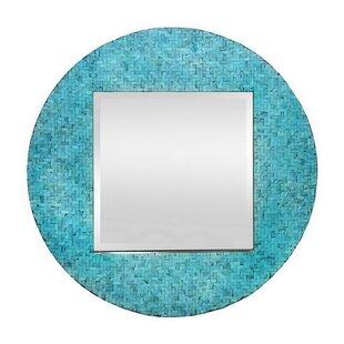 Highland Dunes Bryn Wood Tile Accent Mirror