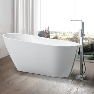 Compare prices 67 x 31.5 Freestanding Soaking Bathtub By Vanity Art