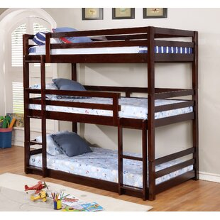 Watts Triple Twin Over Twin Bunk Bed by Harriet Bee