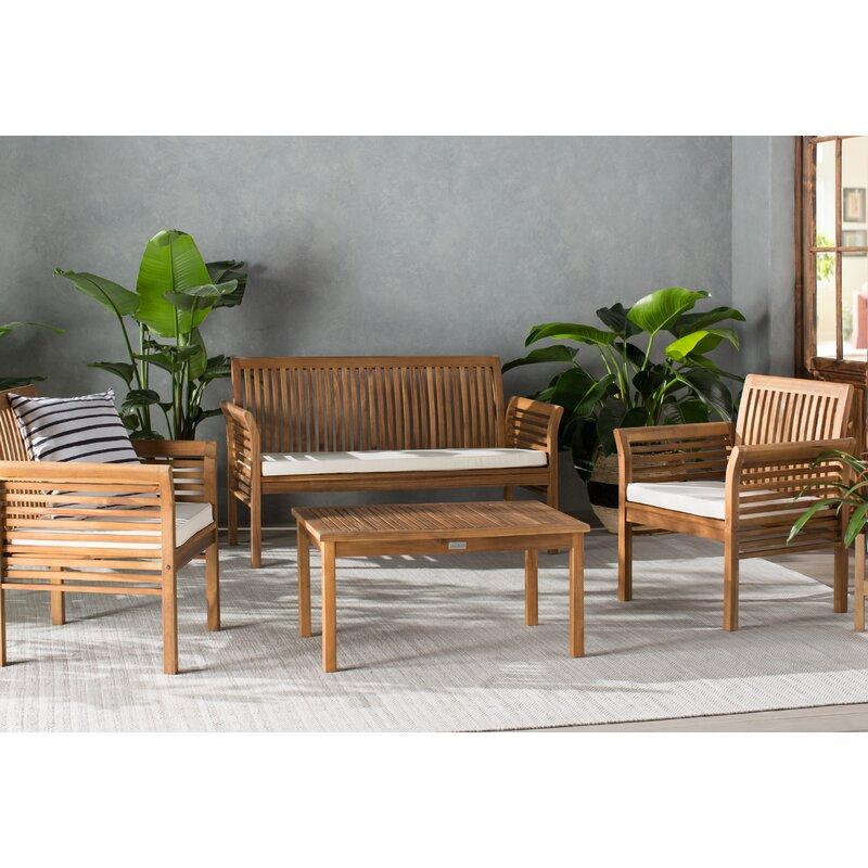 Glynn 4 Piece Sofa Set With Cushions